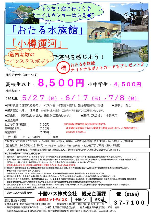 「おたる水族館」「小樽運河」で海風を感じよう!