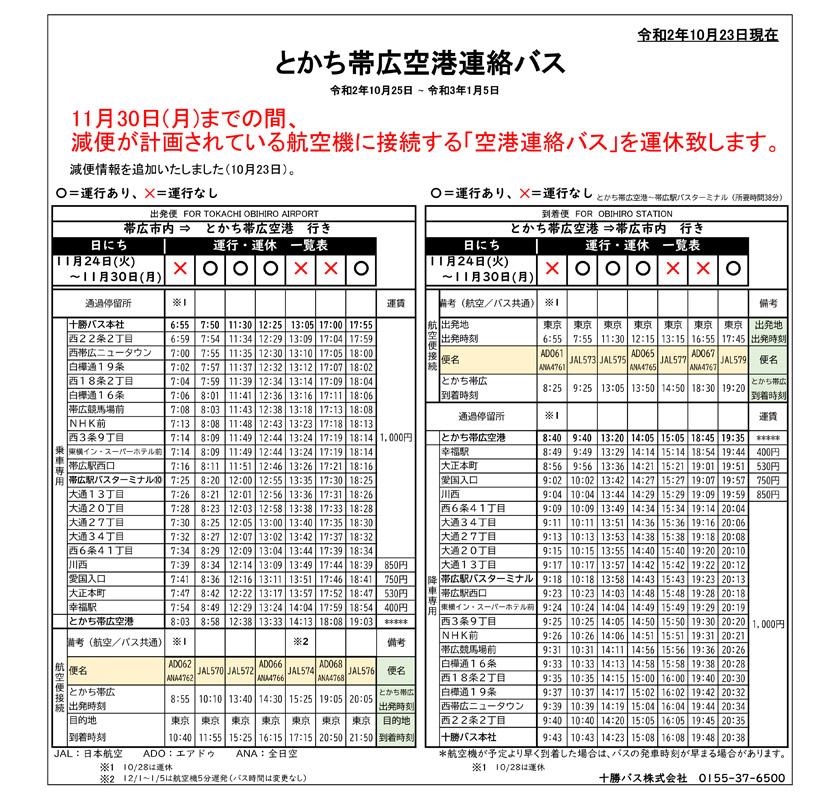 [10月25日至11月30日]关于减少机场接驳巴士数量的通知